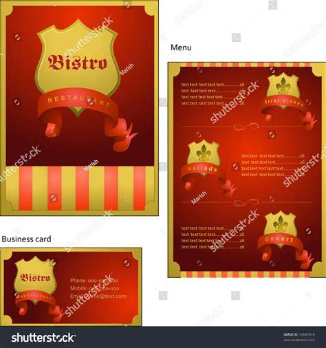corporate menu card template template designs menu business card coffee stock vector