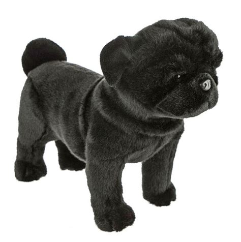 black pug standing soft plush 16 quot 40cm midnight by