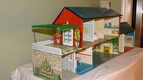 tin doll houses rare 1962 marx metal dollhouse with a fallout bomb shelter retro renovation