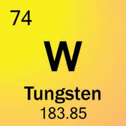 element 74 tungsten science notes and projects