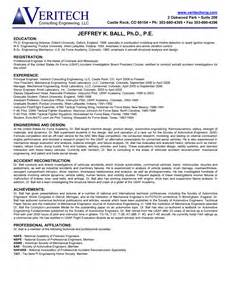 Forensic Engineer Sle Resume by Forensic Science Forensic Science Resume