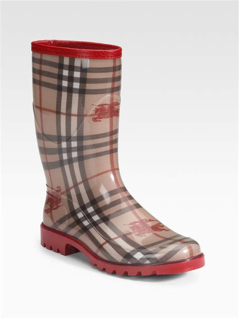burberry boots for burberry rubber boots in multi lyst