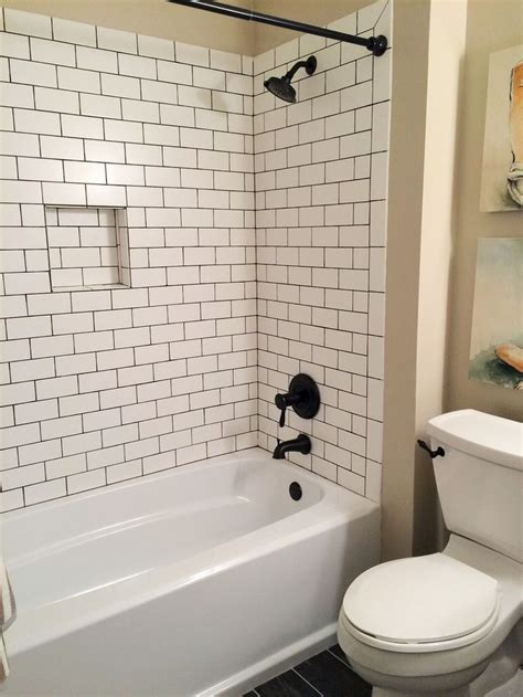 bathroom tile ideas pinterest 1000 ideas about white subway tile bathroom on pinterest
