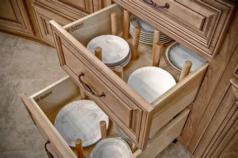 Kitchen Cabinet Plate Organizers | plate organizer traditional kitchen by kirkland