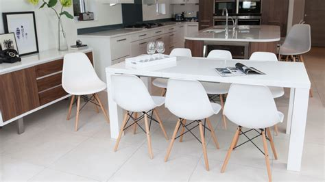 Island Kitchen Design white kitchen table and chairs derektime design