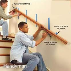 Install Handrail On Stairs Install A New Stair Handrail The Family Handyman House