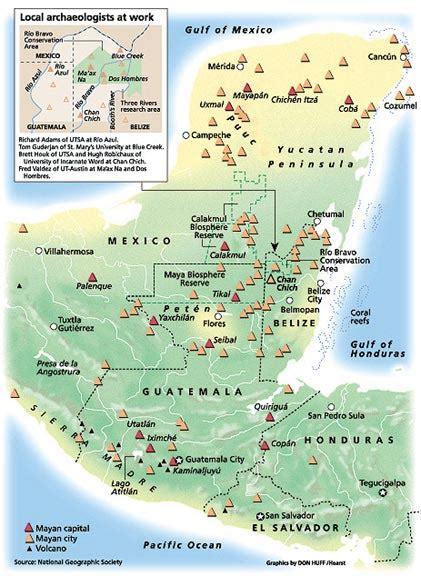 mayan ruins map mayan civilization ruins and culture