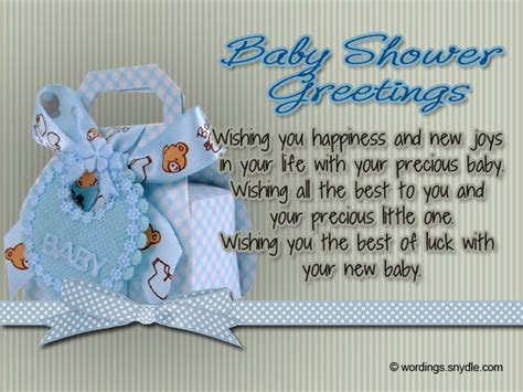 Baby Shower Greeting Quotes by Baby Shower Wishes Wordings And Messages