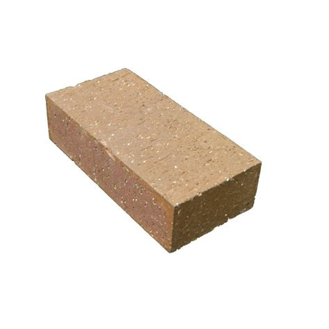 home depot decorative bricks interstate brick 2 1 2 in x 8 in x 4 in true paver baja