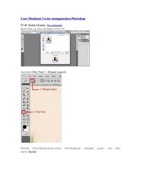 cara membuat barcode menggunakan photoshop cara membuat vector menggunakan photoshop