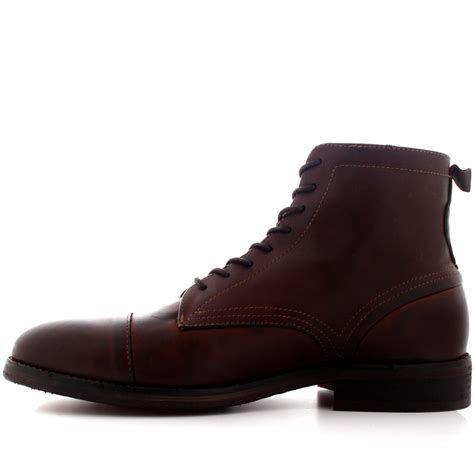 mens lace up biker boots mens h by hudson palmer leather smart biker office lace up