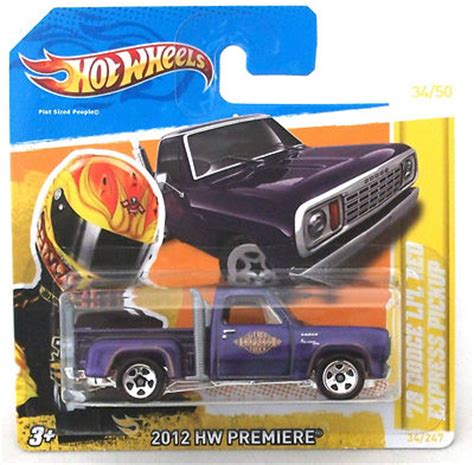 Hw Wheels Hotwheels 1978 Dodge Li L Express Truck Yellow Wheels 34 247 1978 Dodge Li L Express