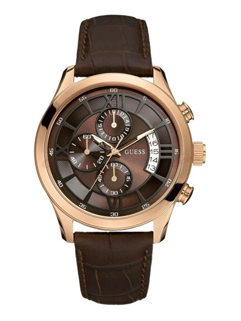 Gc 23006 Rosegold Brown Leather guess rosegold brown leather w14052g2