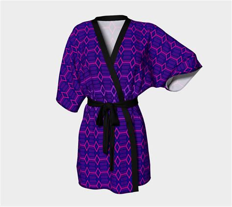 geometric pattern kimono blue violet indigo and purple diamond geometric pattern