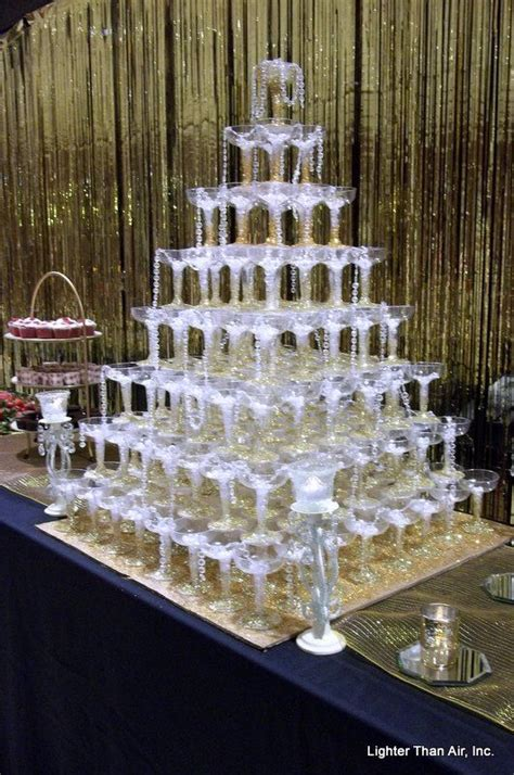 great gatsby themed ball great gatsby theme chagne glasses pyramid with