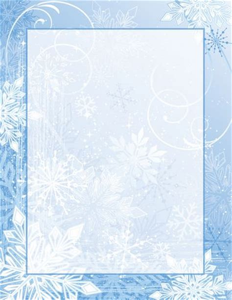 winter templates letterhead winter stationery