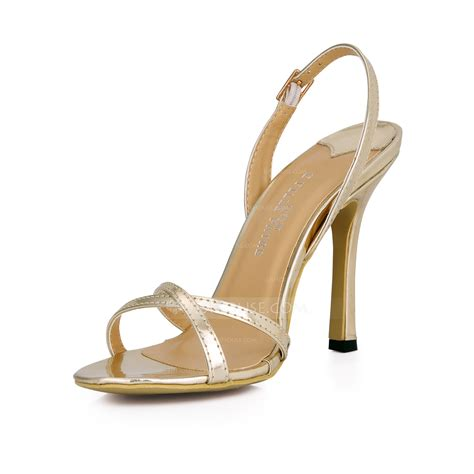 jj house shoes women s patent leather stiletto heel sandals slingbacks shoes 087026359 jjshouse