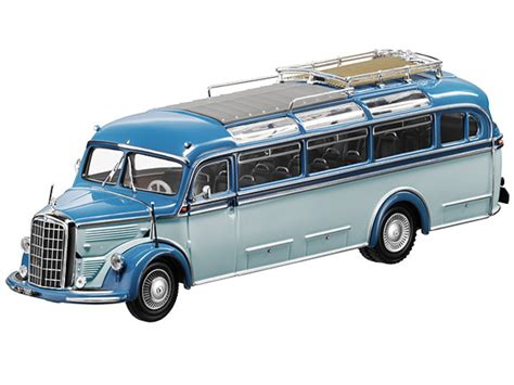 model commercial vehicles mercedes benz o3500 blue 1 43 scale 1 43 commercial