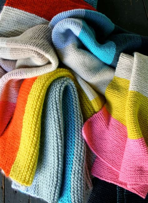easy knit blanket pin by purl bee on purl bee knitting
