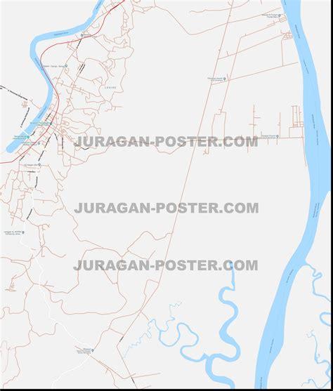 jual peta kota samarinda ukuran besar jual poster