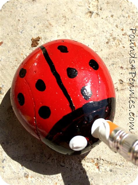 add a whimsy make a painted ladybug garden rock