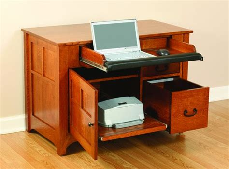 Laptop And Printer Desk Amish Mission Laptop Desk Amish Office Furniture Sugar Plum Oak Amish Furniture In Norfolk