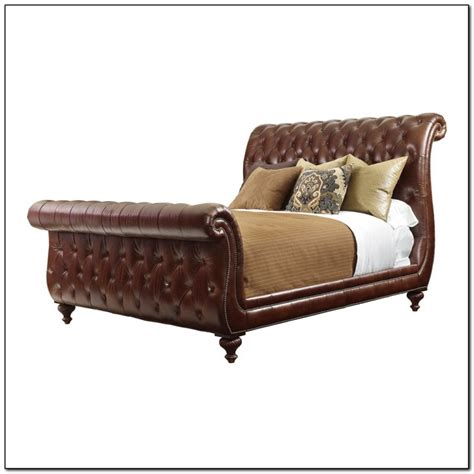 upholstered tufted sleigh bed upholstered tufted sleigh bed beds home design ideas