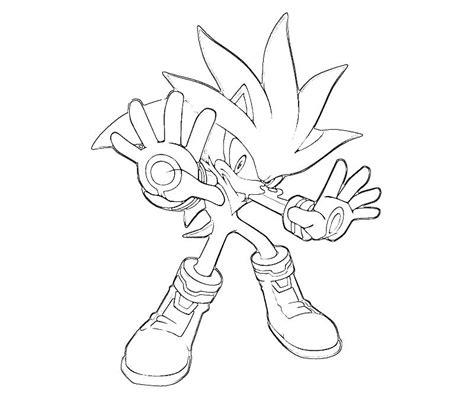 Sonic Generations Silver The Hedgehog Aura Surfing Silver The Hedgehog Coloring Pages