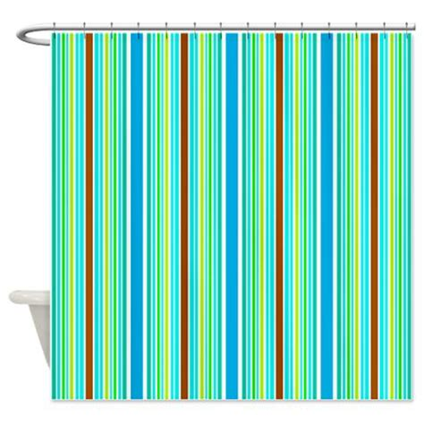 blue and brown striped shower curtain blue green brown stripes shower curtain kawelamolokai com