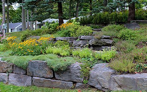 Rock Gardens On Slopes A Rock Garden Is A Great Alternative To Grass On A Steep Slope Garden Slopes Pinterest