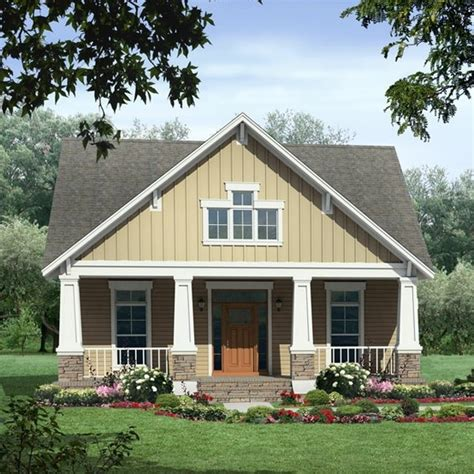Charming One Story Farmhouse #1: Small-house-plans-craftsman.jpg