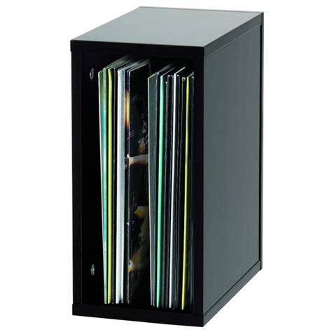 regal plattenspieler glorious record box schwarz 55 platten regal