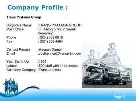 Trucking Company Profile Template Company Profile
