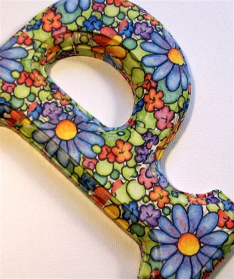 Decoupage Wood Letters - decorated wood letters decoupage floral for any initial