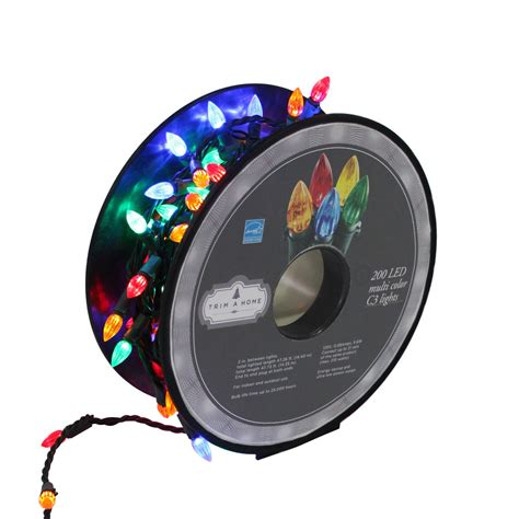 c3 led christmas lights 200 ct multicolorcolor c3 led lights on a reel kmart