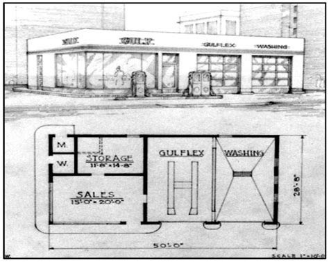 gas station floor plans gulf texaco filling stations reed brothers dodge