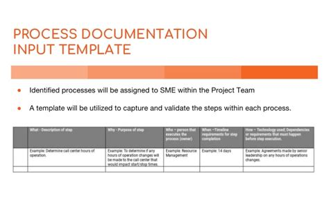 Business Process Documentation Template Process Document Template Excel