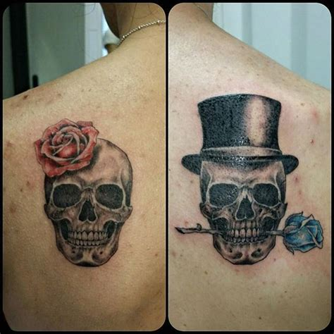 skull couple tattoos 17 best ideas about skull on
