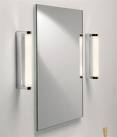 chrome bathroom mirrors polished chrome led bathroom mirror light ip44
