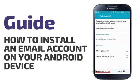 how to set up work email on android how to install an email account on your android device pop multimedia xp