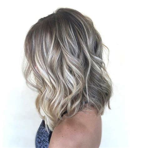 short hair cut and ash color streaks look grey 47 hot long bob haircuts and hair color ideas page 4 of