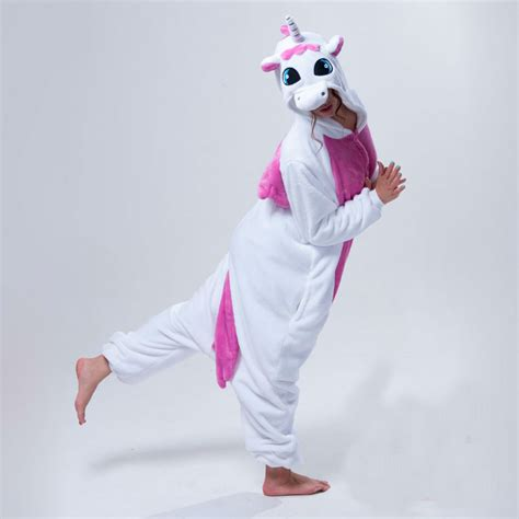 pajamas unicorn pink hooded footed pink unicorn pajamas autumn