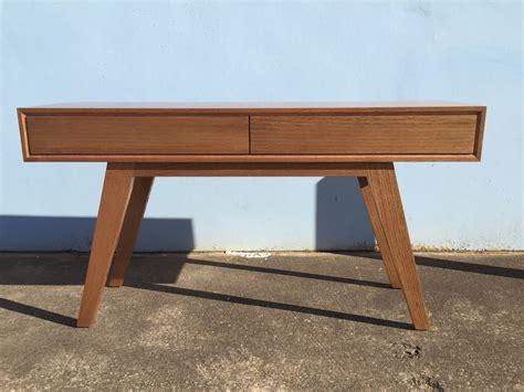 sofa table australia australian made tassie oak retro console table ebay