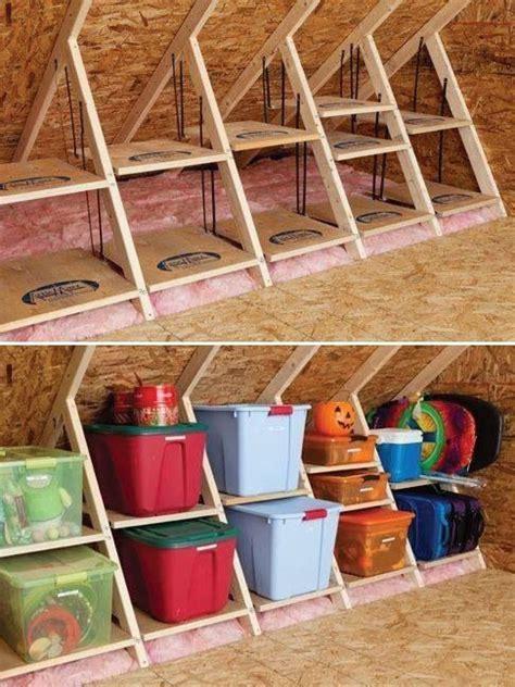 attic storage storage ideas