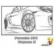 Gusto Car Coloring Pages  Porsche Corvette Free