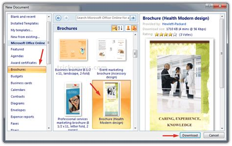 word template for brochure create brochure in word 2007 or 2010 make brochure