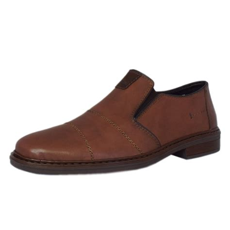 rieker shoes cavalery mens slip on shoes in brown