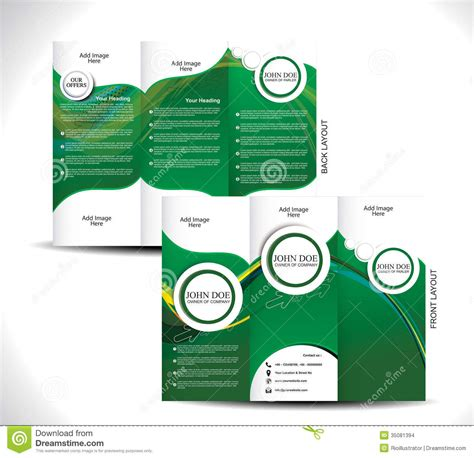 green brochure layout vector green tri fold brochure design stock images image 35081394