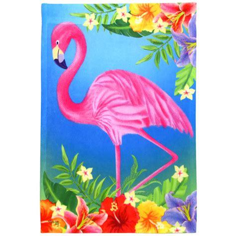pink flamingo garden flag fm mardigrasoutletcom