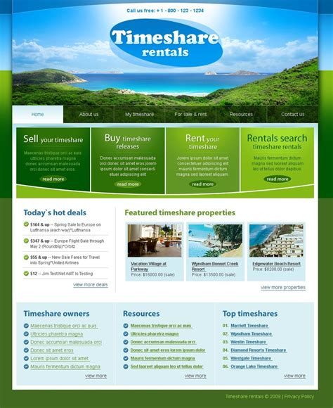Travel Website Template 25065 Travel Template